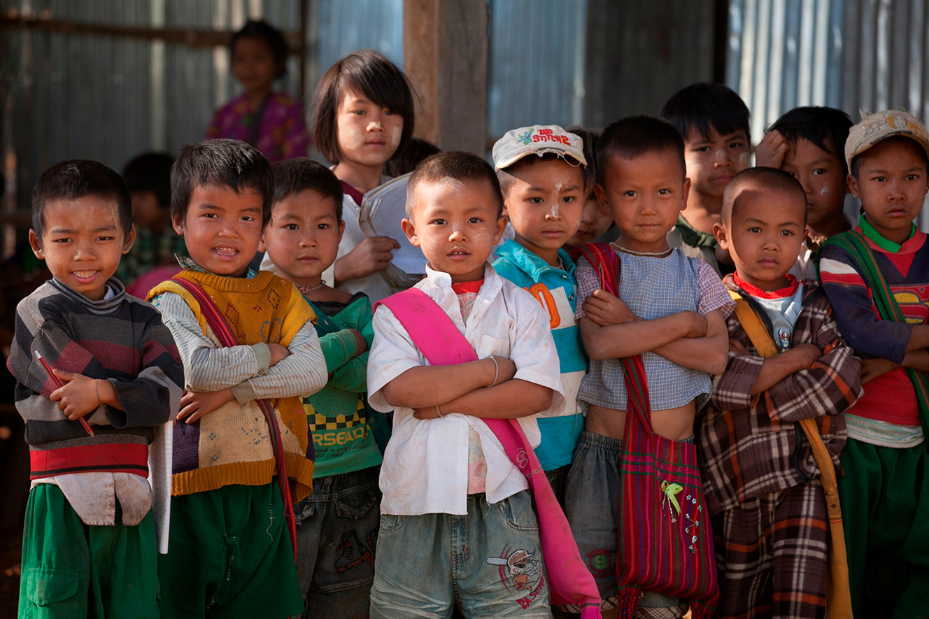 Photo of a group of children in Myanmar