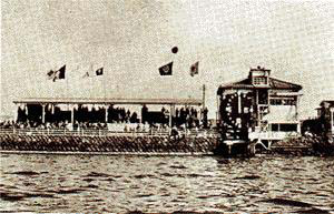 Photo of the Omura boat course