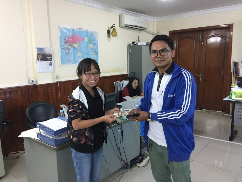 The Nippon Foundation receives relief donations from Cambodia
