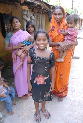 Photo of a family living in India's Leprosy colonies