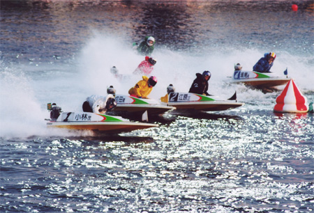 Photo of motorboat racing