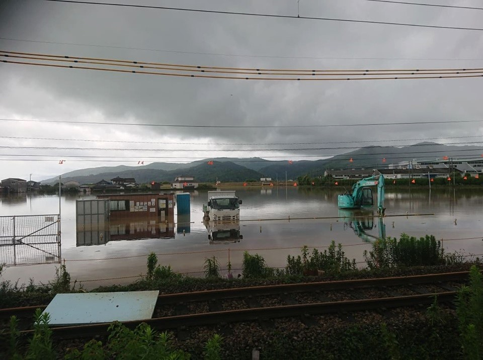 Photo of flooding in northern Kyushu on August 29, 2019